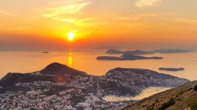 best place to watch sunset in dubrovnik